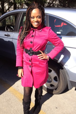 hot pink La Belle coat