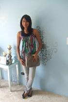 Target top - Petit Bateau top - Pac Sun jeans - ferragamo purse