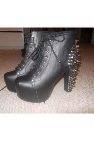 leather spikes Jeffrey Campbell heels