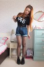 Black-fishnet-pamela-mann-tights-navy-denim-tomtop-shorts