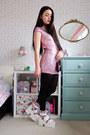 Bubble-gum-sequin-yoins-dress-hot-pink-metallic-banggood-bag