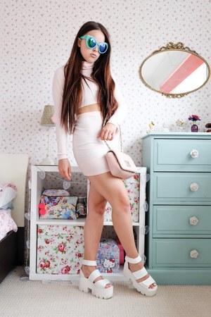 light pink two piece CelebLook skirt