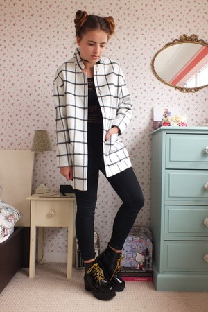 white monochrome Tu coat - black Matalan jeans