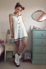 White-platform-river-island-boots-white-sailor-tofu-cute-dress