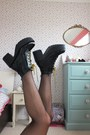 Black-chunky-lovelywholesale-boots-dark-gray-watermelon-lovelywholesale-dress
