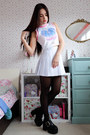 Black-glitter-topshop-tights-white-kawaii-happy-monday-top