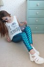 Teal-mermaid-ebay-leggings-white-retro-primark-sunglasses