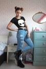 Black-platform-topshop-boots-light-blue-ripped-lovely-wholesale-jeans