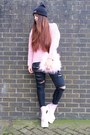 Bubble-gum-platform-dolls-kill-boots-black-beanie-rad-hat