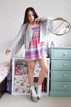 periwinkle fringed Pretty Little Thing jacket