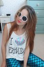 Teal-mermaid-ebay-leggings-white-retro-primark-sunglasses