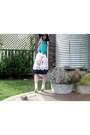 White-nine-west-shoes-white-target-skirt-black-vintage-belt-aquamarine-spo