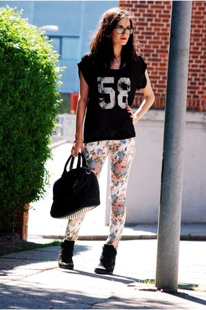 romwe pants - VJ-style bag - romwe t-shirt