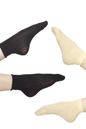 yellow American Apparel socks - black American Apparel socks