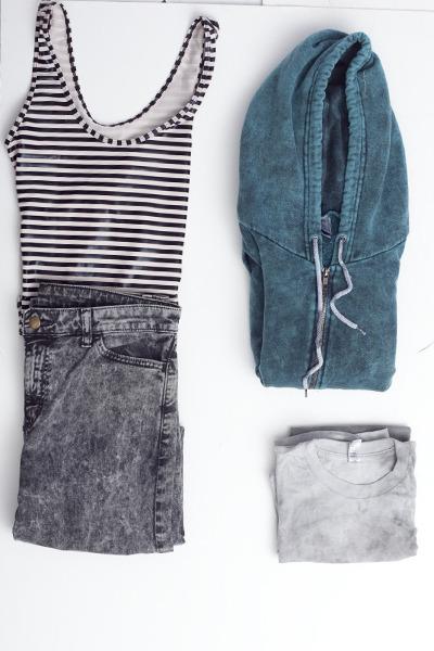 white cotton American Apparel t-shirt - black denim jeans American Apparel jeans