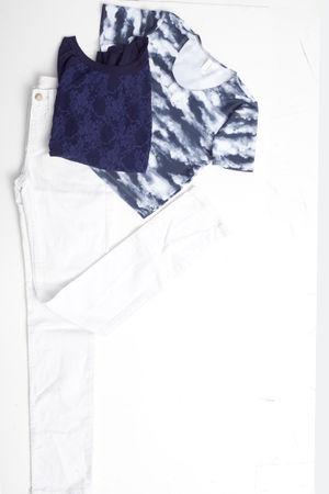 white American Apparel jeans - blue American Apparel sweater - white American Ap