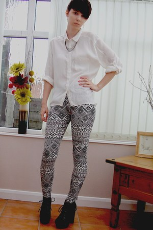 Boohoo leggings - Miss Selfridge shirt