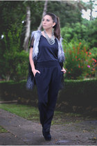 Ivy shirt - faux fur Ivy vest - formal Mango pants