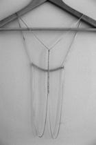 silver body armor DIY necklace