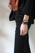 handmade bracelet - Club Monaco pants - forever 21 blouse - Jcrew sweater - scar