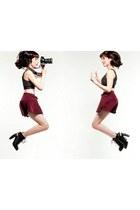 corduroy skirt American Apparel skirt - heels Alexander Wang boots