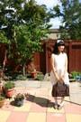 White-dress-brown-nica-bag