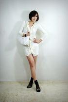 white 2BB3 dress - white 2BB3 purse - black 2BB3 shoes - black 2BB3 socks - blac