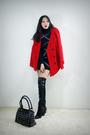 Red-style2bb3-coat-black-style2bb3-purse-black-style2bb3-dress-black-style
