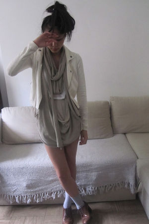 All Saints top - Topshop vest - Urban Outfitters shoes - Urban Outfitters blazer