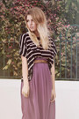 Lilac-midi-romwe-skirt-striped-romwe-top-lace-collar-romwe-necklace