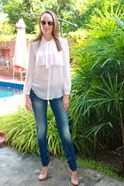 light pink sheer top Topshop blouse