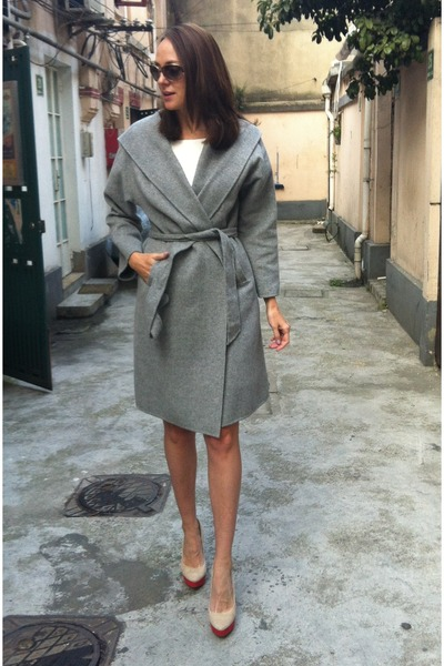heather gray hooded cape Zara jacket