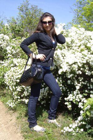 black Puma wallet - black Rifle jacket - Diesel shoes - Mango sunglasses