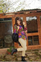 colorful vintage blouse