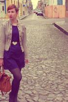 belt - dress - jacket - bag