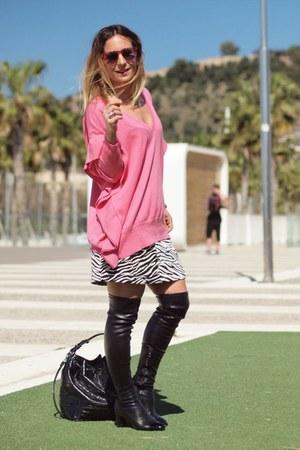 Zara sweater - pull&bear skirt