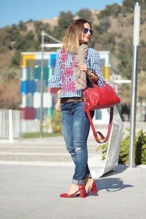 Zara shirt - Zara heels