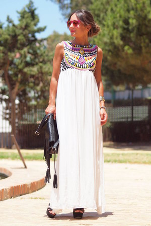 Sheinside dress - hawkers sunglasses - pull&bear heels