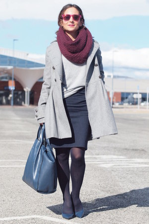 Zara bag - suiteblanco coat - hawkers sunglasses - Zara heels - Zara skirt
