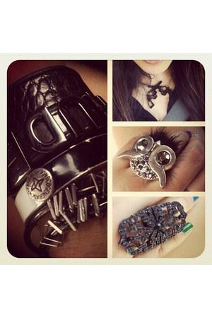 rude BCBG bracelet - Nine West bracelet - black unknown brand bracelet