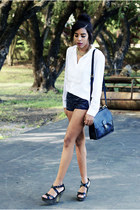 31 Phillip Lim top - coach bag - H&M shorts - Mossimo heels
