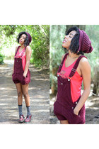 Forever 21 romper - doc martens shoes - Target socks - Urban Outfitters t-shirt