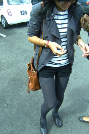 jean paul gauthier t-shirt - H&M shorts - socks tights - Esprit blazer - vintage