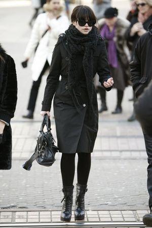 Burberry blazer - balenciaga purse - Ralph Lauren glasses - new york shoes