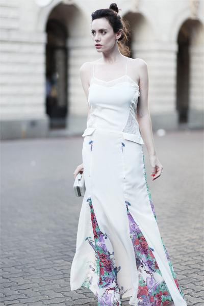 white wwwletthemstarecom dress - white Zara bag - black asoscom heels