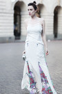 white wwwletthemstarecom dress - white Zara bag - black asoscom heels