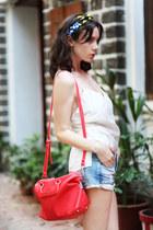 red Zara bag - white wwwletthemstarecom top