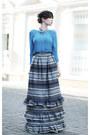 Sky-blue-zara-blouse-blue-wwwletthemstarecom-skirt