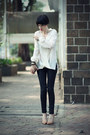 Ivory-let-them-stare-blouse-black-mango-jeans-neutral-zara-heels