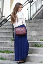 Chanel bag - Zara blouse - SANDRO skirt - tory burch flats
